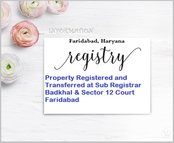 Faridabad Property Registration Office