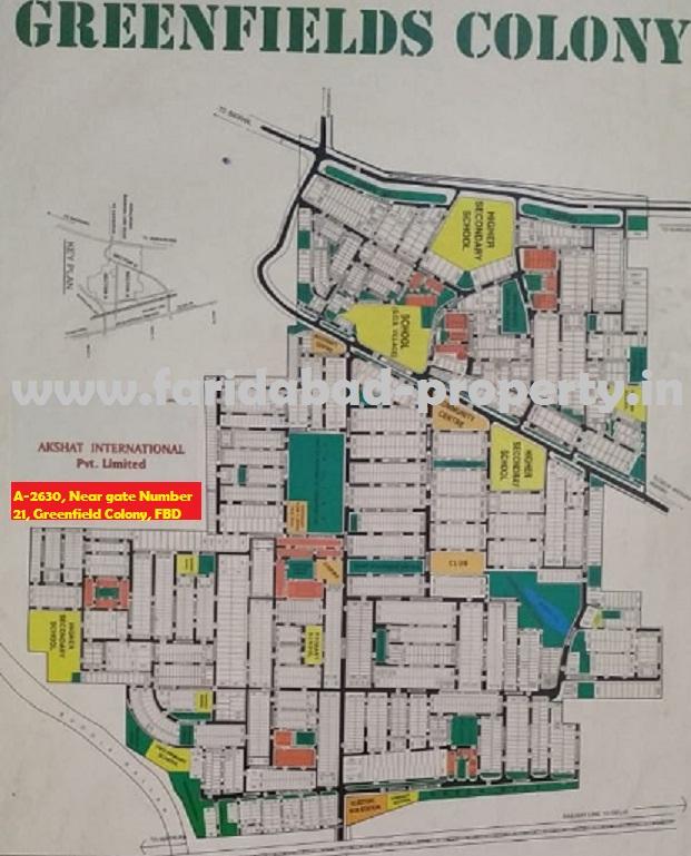 Greenfield colony Faridabad layout plan